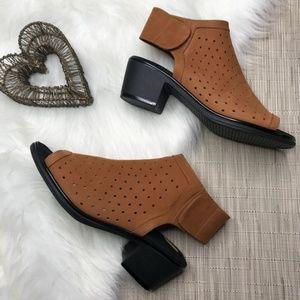 NWOT Steve Madden Leather Open Toe Slingbacks 8